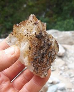 Bergkristal uit Val Cavradi, Zwitserland